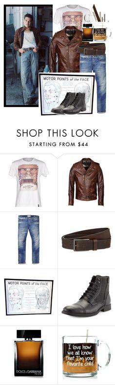 """Rami Malek"" by tumvlesaww ❤ liked on Polyvore featuring Dirty Velvet, Schott NYC, Scotch & Soda, HUGO, Robert Wayne, Dolce&Gabbana, men's fashion and menswear"