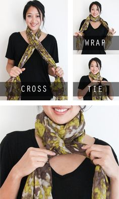 One scarf, and five different fashionable ways to tie it   Fashionate -  Yahoo Foulard f0e3a722776
