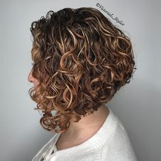 Perfectly Angled Curly Bob