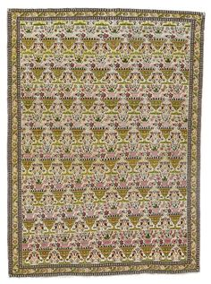 Feraghan Rug, West Persia with 'Zil-ol-Sultan' design approximately 190 by 140cm; 6ft. 3in., 4ft. 7in. circa 1870