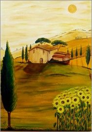 Christine Huwer - Sunflowers in Tuscany