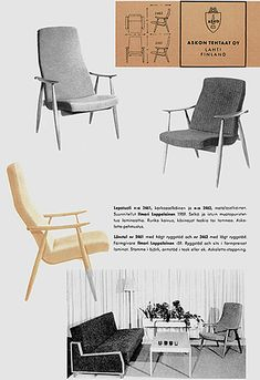 Marjatta chair, by Ilmari Lappalainen, Asko Finland