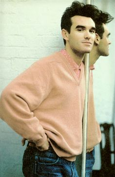 Morrissey in a frankly spectacular jumper.