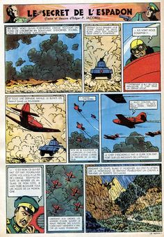 Page n° 16 du Journal de TINTIN édition Belge N° 20 du 15 Mai 1947- Auteur : E.P. Jacobs Serie : Blake et Mortimer Titre : Le secret de l'Espadon | Commentaires : Planche n° 34 | pin by scann R