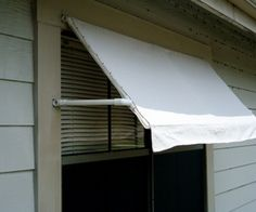 PVC frame and vinyl-backed canvas drop cloth (Home Depot Paint Dept.) to make awning…keep the heat out in summer. I would make the drop cloth for easy removal in winter; maybe eyelets or grommets with lacing. Diy Awning, Diy Pergola, Pergola Ideas, Garden Awning, Pergola Shade, Pergola Kits, Pvc Pipe Projects, Home Projects, Home Depot Paint