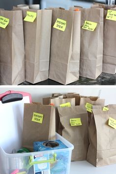 Paper bag STEM challenges week of ideas for kids
