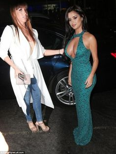 Tyga\'s rumoured ex Demi Rose puts on a VERY buxom display in a teal cut-out gown as she attends London fashion bash