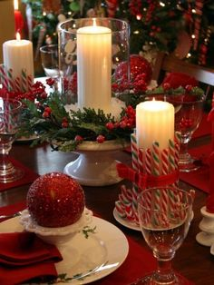 Candy cane candles/Christmas