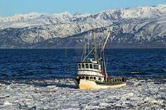 Classic Alaskan fishing boat