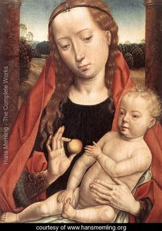 Virgin with the Child Reaching for his Toe 1490s - Hans Memling - www.hansmemling.org