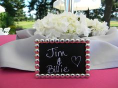 Elegant Silver Wedding Chalkboard Frames by LetsTalkChalk, $5.00