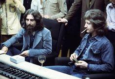 George Harrison and Peter Ham. September 30, 1971