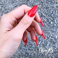 Red Manicure, Red Nails, Dragon Claw, Elegant Nails, Red Dragon, Nail Art, Gemstones, Instagram, Ongles