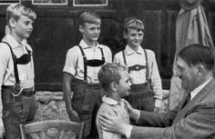Germany, Hitler with four children.