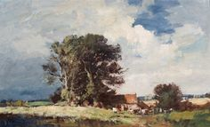 Suffolk Farm in Summer by Edward Seago