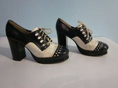 vintage disco shoes 1970s two tone vintage disco by clothesmineded