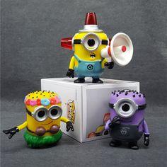 Despicable Me Hula Minion Fire Alarm Purple Carl Action Figure 10CM //Price: $11.98 & FREE Shipping //     #actionfigurecollectors Minion Pattern, Despicable Me, Hula, Purple, Minions, Action Figures, Free Shipping, Movies, The Minions