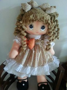 Details about Lovely handmade dress for My Child doll Pretty Dolls, Beautiful Dolls, Doll Clothes Patterns, Doll Patterns, Homemade Cloth Dolls, Handmade Christmas Crafts, My Child Doll, Doll Home, Crafts For Girls