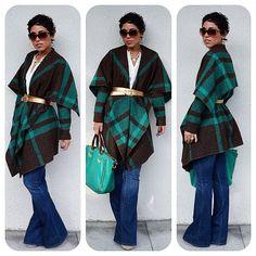 DIY Blanket Jacket Details @ mimigstyle.com