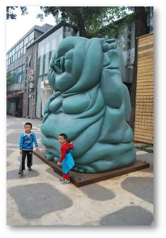 Art Zone 798 in Beijing. Among old decommissioned military factories, art takes over the streets.