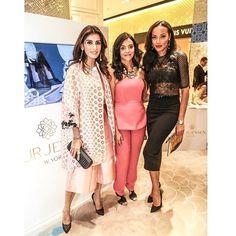 Flashback to Creative Director @lamode28, @roseminmanji, and @selitaebanks rocking their Nour Jensen #SS15 pumps at #NourJensenLaunch. @levelshoedistrict