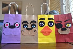 FIVE NIGHTS at FREDDY'S Party Bags Set of 12 Fnaf Favor