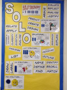Miss McElderry @Miss_McElderry  Displays coming along nicely @GuardianTeach #teachersback #SOLOTaxonomy pic.twitter.com/D5RAmtADOW Solo Taxonomy, Visible Learning, Higher Order Thinking, Effective Learning, Levels Of Understanding, Neuroplasticity, Classroom Walls, Student Engagement, Growth Mindset