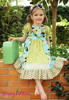 Create Kids Couture - Molly's Faux Apron Peasant Dress PDF Pattern, $8.00 (http://www.createkidscouture.com/mollys_girls.html)