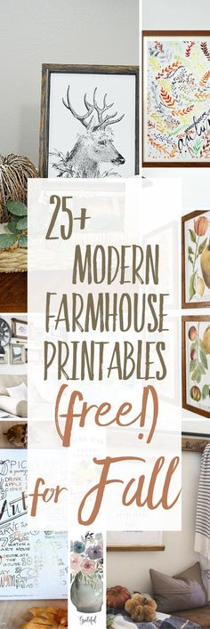This collection of free Modern Farmhouse Printables for Fall is a great resource to freshen up your seasonal decor. Just print one (or more! Free Christmas Printables, Free Printables, Diy Décoration, Easy Diy, Free Prints, Seasonal Decor, Printable Wall Art, Modern Farmhouse, Farmhouse Signs