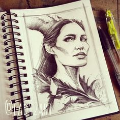 Maleficent-sketch