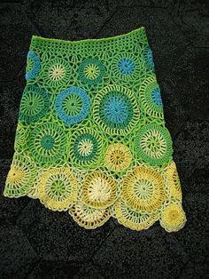 Lime'n 'lemon Crochet skirt by Marianne Seiman