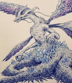 Seath the Scaleless    Been doing more color pencil drawings, I've forgotten how fun they are.    I've got one more lordsoul boie, well technically there's four of them but I think I'll do one of them. There's a bunch of optional bosses that aren't done yet too, I'm gonna do em.    #darksouls #seaththescaleless