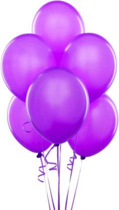 Purple Transparent Balloons Clipart
