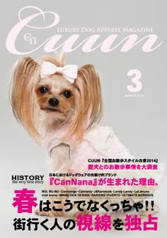 Cuun -Luxury Dog Apparel Magazine- cover design