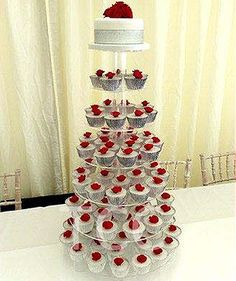 red rose cup cake wedding | Red Rose Iced Cupcake > Wedding Cakes > Shop by Occasion > Main ...