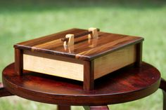 Handmade Maple And Walnut Wooden Box For Storage/jewerly
