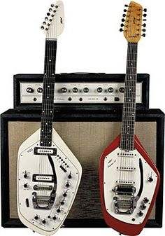 Vox organ guitar and 12 string electric mandolin guitar