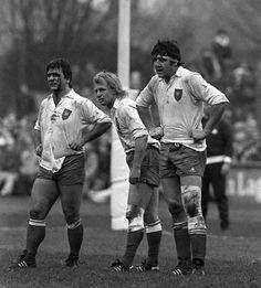 Robert Paparemborde, Jean Pierre Rives et Jean Francois Imbernon en 1983 Rugby League, Rugby Players, Toulouse France, Champion, Vintage Sport, Hero, Passion, Football, France