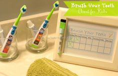 How to Make a Cute Printable Kids Chart for brushing teeth - The Taylor House