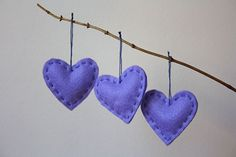 simple heart ornaments