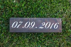 Wedding Date Custom Wooden Sign.  This is great by ScaleAndTailor