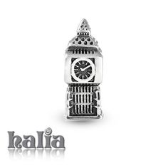 Big Ben, London: Big ben landmark bead (London): designed exclusively by Halia, this bead fits other popular bead-style charm bracelets as well. Sterling silver, hypo-allergenic and nickel free.   $35.00