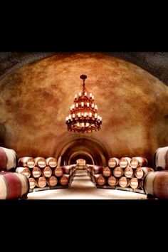The caves of Far Niente Winery