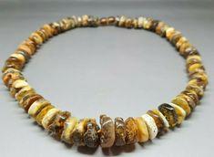 "18,9"" Genuine Baltic Amber Choker Necklace Choker Green/Multicolor #Amber #Choker Baltic Amber Necklace, 18th, Chokers, Beaded Bracelets, Detail, Green, Ebay, Jewelry, Bijoux"