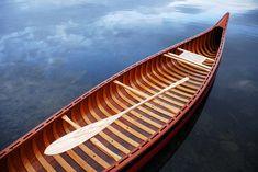 Handmade canoe.