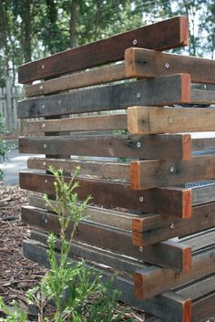 Sustainable Landscaping and the use of recycled timber by Sustainable Pty Ltd