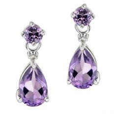 Large Gold Tone Purple Diamante Sparkle Flower Butterfly Dangle Hoop Earrings We Have Won Praise From Customers Earrings Fashion Jewelry