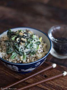 Reis mit Spinat in Cashewsauce #vegan #glutenfrei