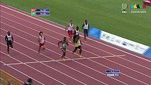 Archivo:Athletics Men's 200 Final - 27th Summer Universiade 2013 - Kazan (RUS).webm