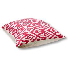 Ikat 36x36 Floor Pillow ($99) ❤ liked on Polyvore featuring home, home decor, throw pillows, pillow, magenta, ikat home decor, cotton throw pillows and ikat throw pillows
